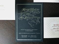 Korissa & Ken Foil/Letterpress Invitations