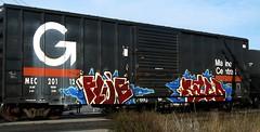 FLUE, SAID (YardJock) Tags: art train graffiti kodak steel graf tracks railway boxcar kidd freight rolling