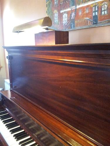 Lampe de piano faite à la maison