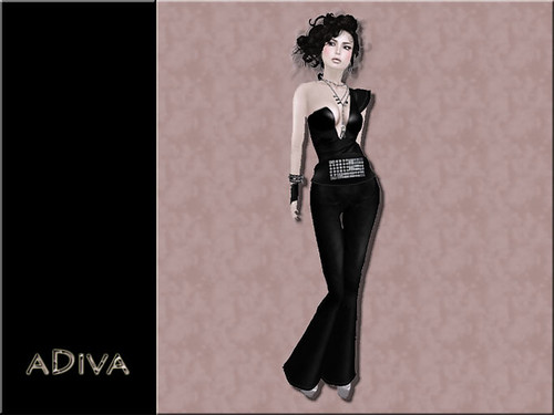 aDiva couture Lianne Leather Jumpsuit Black