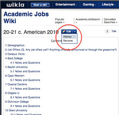 Academic Jobs Wiki screenshot