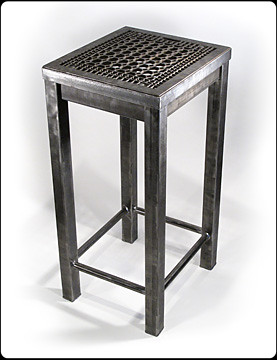 Grate First Impression Steel Entryway Table