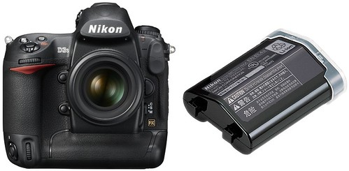 Nikon D3S plus EN-EL4a -- Battery Life