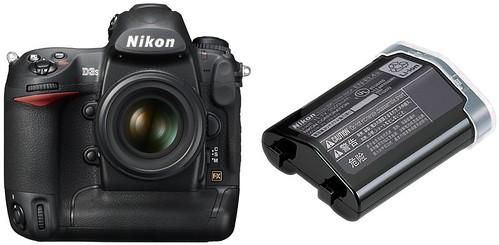 Nikon D3S plus EN-EL4a -- Battery Life