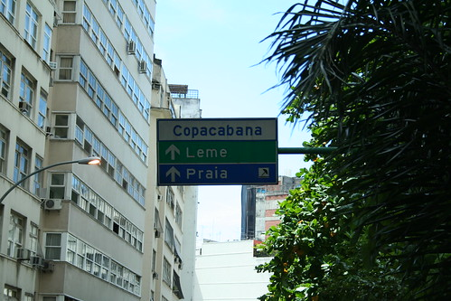 Direction sign to Copacabana