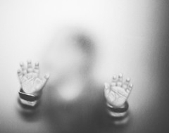 (Bosquet) Tags: door boy blackandwhite bw baby black glass grey nikon infant gray shapes through grayscale greyscale nikond700