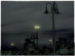 MoSabattier Tropical Dusk.2 (mcreedonmcvean) Tags: sunset dusk streetlights nightshots rushhour lamplights carseverywhere goldenhourlighting hebi35 goldenwokrestaurant