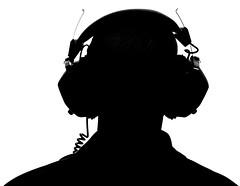 Ear to Ear (Light Collector) Tags: bw silhouette ear earphones odt facelessportrait ourdailychallenge