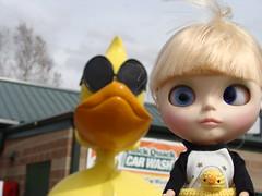 Ella and the big duck...