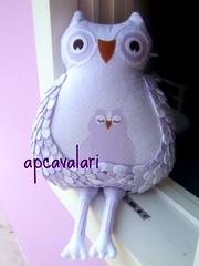 Violeta (AP.CAVALARI / ANA PAULA) Tags: owl coruja ateliê arteemtecido anapaulacavalari owlfélia apcvalari
