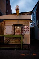 Poutine (Sharon Drummond) Tags: street city urban canada building sign hotdog open cone ottawa fries icecream sausages poutine bywardmarket rundown byward