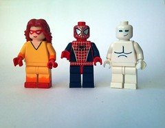 Spider-man and his Amazing Friends (burakki62) Tags: friends amazing lego spiderman iceman his custom firestar