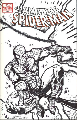 "Panel to Panel :: The Amazing Spider-Man ""Blank Variant"" cover .. by Kevin Eastman (( 2011 )) [[ Courtesy of P2P ]]"