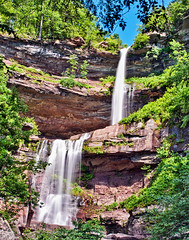 Kaaterskill Falls - a closer look (philhaber) Tags: new york trees usa newyork landscape waterfall rocks stream haines falls palenville kaaterskillfalls greenecounty catskillmountains hainesfalls thomascole hudsonriverschool