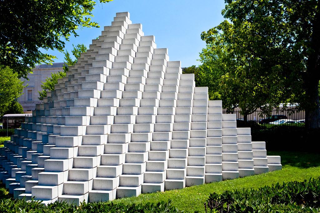 Sol LeWitt: Four-Sided Pyramid