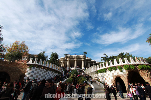 entering park guell