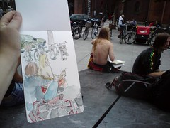 sketching at skt. knuds torv