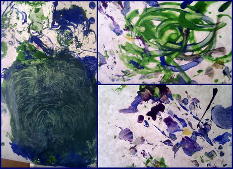 messy play painting ideas