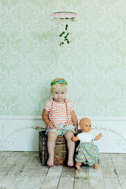 LilyPad and Meatball Mobile, Bloomers, and Headband