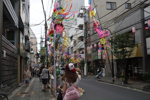 Continuing the way through the street of Tanabata stuff