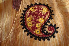 left paisley (jizee66even this will pass away) Tags: embroidery paisley yoke owndesign tunic kutchwork