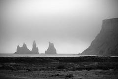 Reynisdrangar - Iceland (josche) Tags: ocean sea cloud white black rock fog clouds island iceland rocks meer nebel wolke wolken fels weiss schwarz vulcano felsen vulkan reynisdrangar platinumheartaward musictomyeyeslevel1