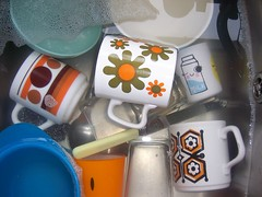 Pretty washing-up! (melody_gwen25) Tags: kitchen vintage 60s sink cups crockery paperchase