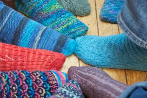 Nine interesting socks