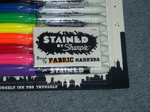 stained by sharpie fabric markers stationery review