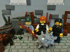Hot Fuzz: The Sea Mine (Hessianizer) Tags: sea hot film angel movie mine gun cops lego room rifle shed machine police scene nicholas prototype british ba shotgun grenade fuzz launcher proto sabr brickarms