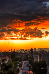 Sunset After the Rain (Mr Gold) Tags: city sunset sky beautiful rain skyline clouds landscape golden la losangeles los interesting cityscape angeles sony hour hdr breathtaking discover discoverla