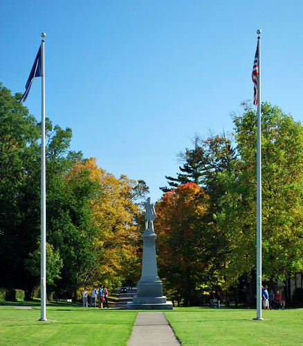 The Flags and Warner's Statue