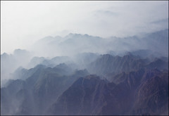 layers of mist (biancavanderwerf) Tags: china travel blue mist mountains high nevel rocks blauw explore mysterious bergen reizen hoog earthasia