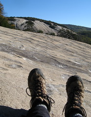 Hiking boots at Stone Mountain Photo