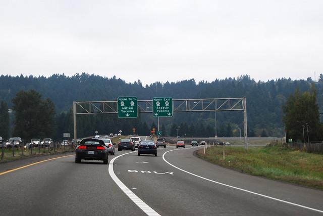 SR 161 @ SR 512 east terminus & SR 167 northward