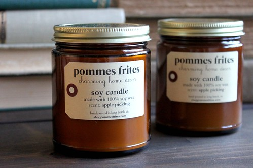 soy candle (scent: apple picking) new from Pommes Frites