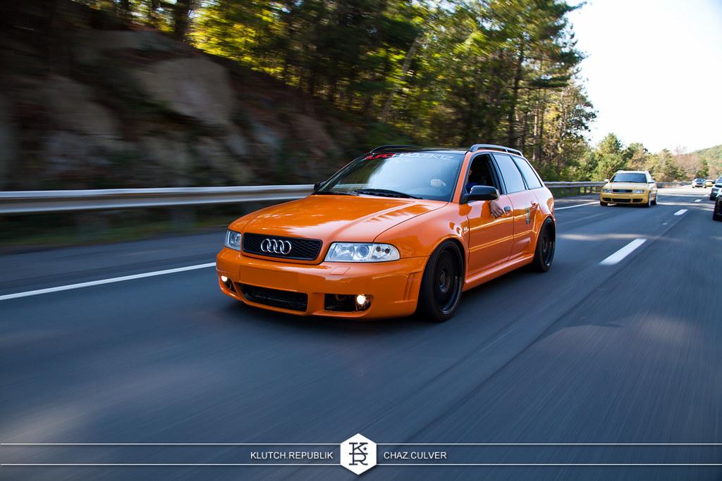 Stunning Vibrant Orange B5 Avant Rs4 Front Bumper Fmic
