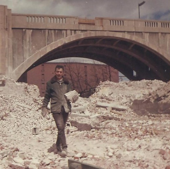 My Dad gathering bricks in 1968