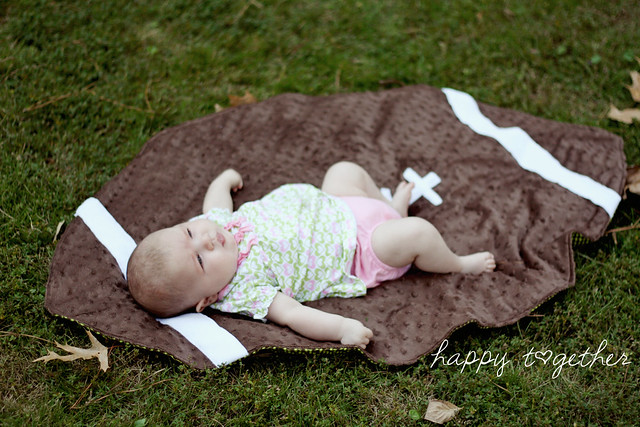 Free Football Blanket Pattern | happy together