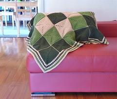 Double Diamond Baby Blanket (Lyvvie) Tags: baby c crochet babyblanket doublediamond crochetblanket diamondpattern crochetsquares quickcrochet crochetborder easycrochet