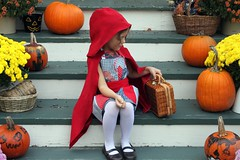 My Little Red Riding Hood (maureencracknell) Tags: red halloween costume littleredridinghood deniseschmidt garmentsewing