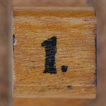 rubber stamp handle number 1 thumbnail