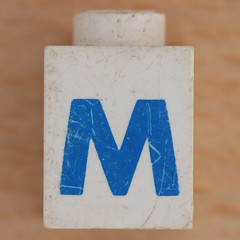 Lego Letter M (Leo Reynolds) Tags: canon eos iso100 ebay m mmm letter 60mm f80 oneletter letterset 0125sec 40d hpexif grouponeletter xsquarex xleol30x xxx2011xxx