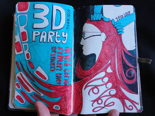 JournalPageIllustrationhairpaint and 3d party