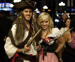 A Pirate and his Wench (San Diego Shooter) Tags: portrait sandiego streetphotography pirate downtownsandiego piratewench sandiegonightlife sandiegopeople sandiegostreetphotography