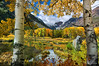 Glory of Autumn in the Sierra Nevada (Darvin Atkeson) Tags: park camping autumn trees snow mountains color fall nature pine forest reflections landscape high fishing pond outdoor sierra beaver yosemite aspen sierranevada capped mountainrange darvin whitebark atkeson darv liquidmoonlightcom