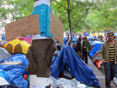 Corner of Jefferson and Trotsky at Occupy Wall Street encampment