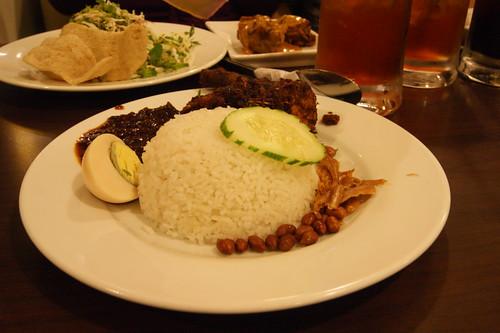nasi lemak + nasi kerabu