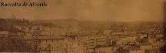 1870 2011 Panorama di Roma dal Gianicolo c (Roma ieri, Roma oggi: Raccolta Foto de Alvariis) Tags: italy panorama rome roma vedute 1870 gianicolo anonimo querciadeltasso villeegiardini rionetrastevere alvarodealvariis farodegliargentini sparodelcannonedimezzogiorno
