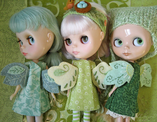 3 green fairies